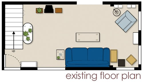 livingroomfloorplanbefore living room cure: clearing + bonding