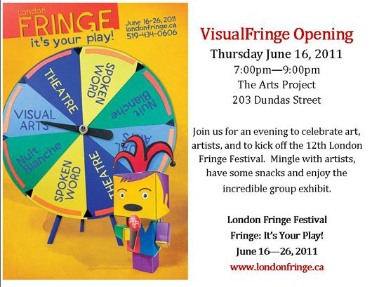 VisualFringe Opening Invite London Art Show   The Arts Project, Visual Fringe 2011