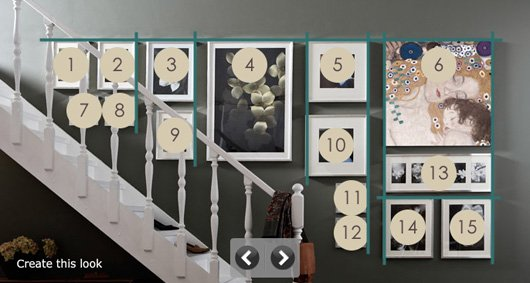 How to hang pictures in a stairway