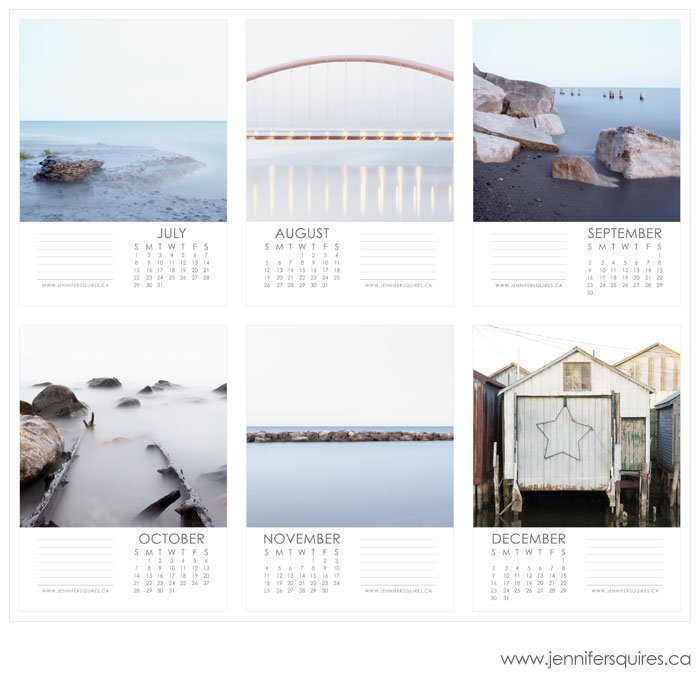 july december 2 blog 2012 Landscape Calendar