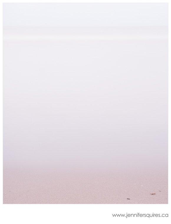 Minimalist beach photograph