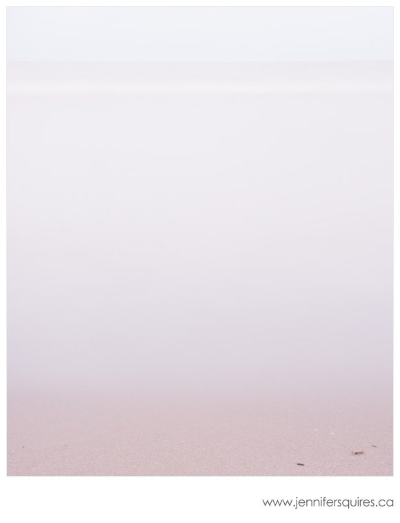 Minimalist beach photograph