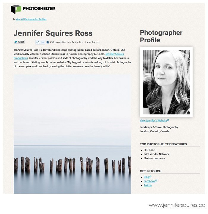 PhotoShelter Member Profile Interview Jennifer Squires Fine Art Landscape Photographer Featured   PhotoShelter