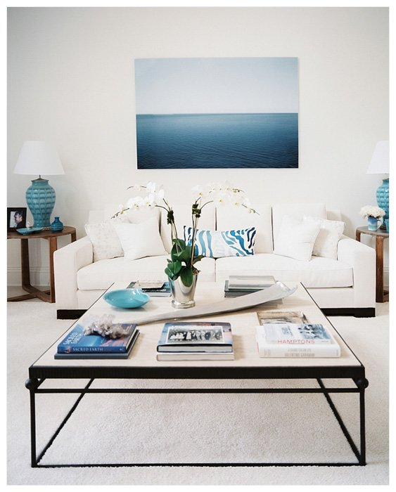 Large Photograph Lonny Magazine Ocean Over White Couch Large Photographs on Display