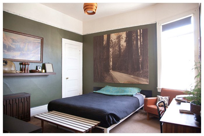 Large Photograph Trees Over Bed Large Photographs on Display