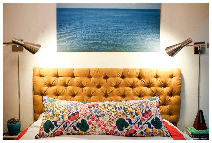 Large Photograph joanna goddard bedroom home house tour ocean over bed Large Photographs on Display