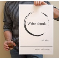 write drunk edit sober poster 200x200 Photography