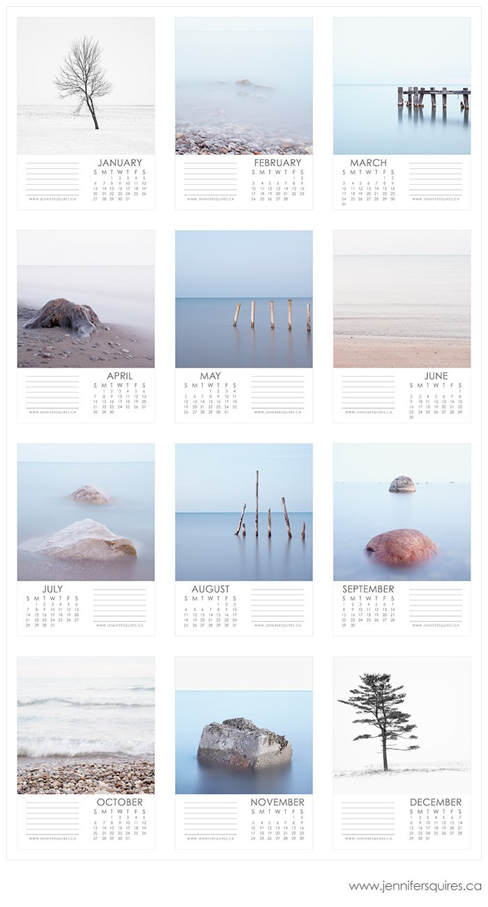 2013 calendar 5x7 months 2013 Fine Art Landscape Calendars