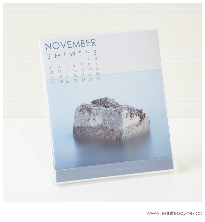 2013 Desk Calendar with Jewel Case - November