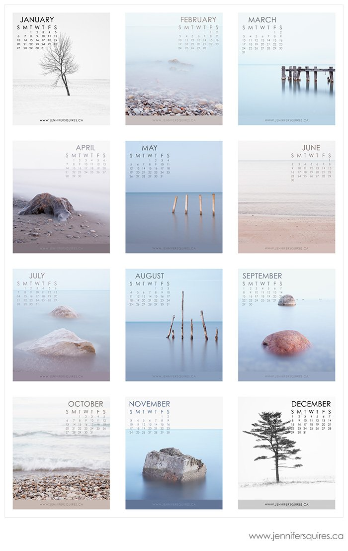 2013 calendar jewel case months 2013 Fine Art Landscape Calendars