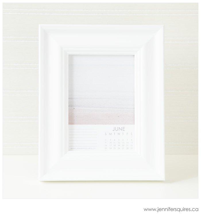 2013 Calendar in a 5x7 Frame