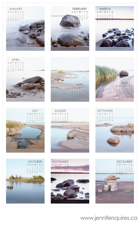 2013 calendar beausoleil jewel case months Beausoleil Island 2013 Calendar
