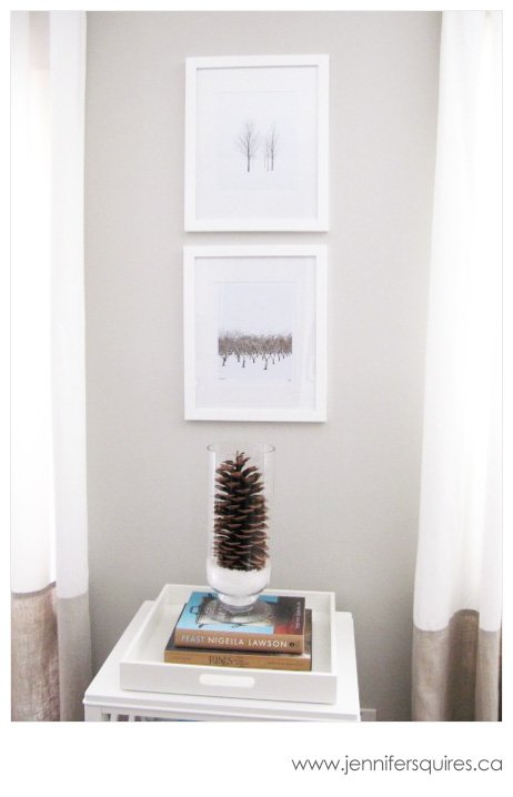 Displaying Photography - Two Framed 8x10 Winter Trees