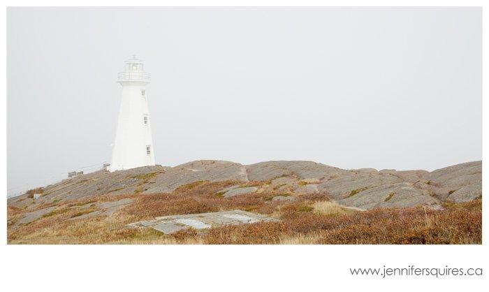 Newfoundland Landscape Photography - Cape Spear Lighthouse in Fog