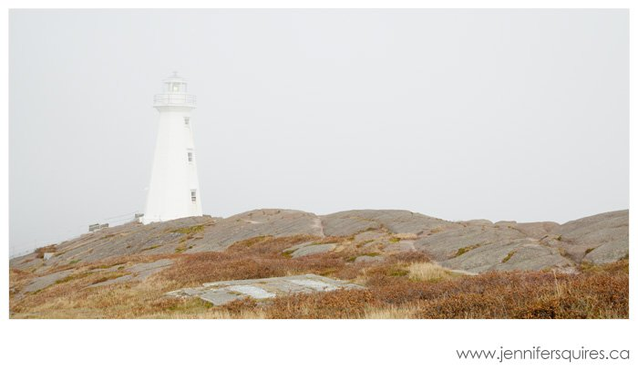 Newfoundland Landscape Photography - Cape Spear Lighthouse in Fog
