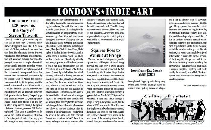 London Ontario Photographer Scene Magazine Jennifer Squires Ross Featured   Scene Magazine, June 2013