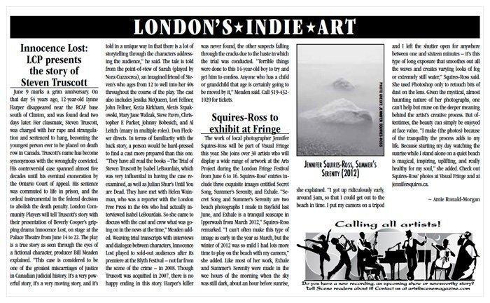 London Ontario Photographer - Scene Magazine - Jennifer Squires Ross