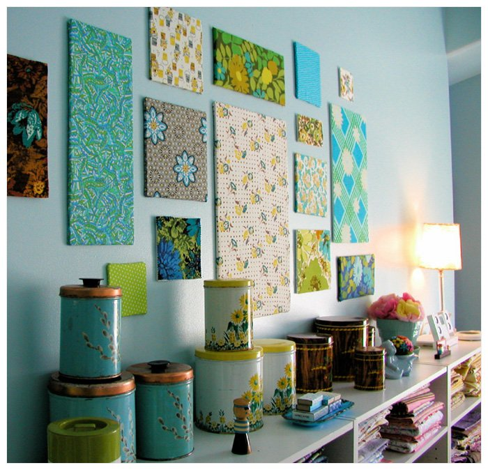 diy art fabric panels Dorm Decor {aka DIY Art I Want to Make for Our Home}