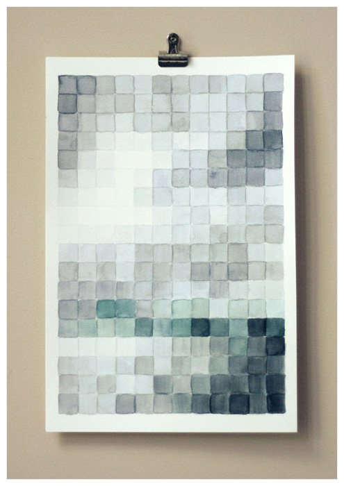 diy art pixel painting Dorm Decor {aka DIY Art I Want to Make for Our Home}