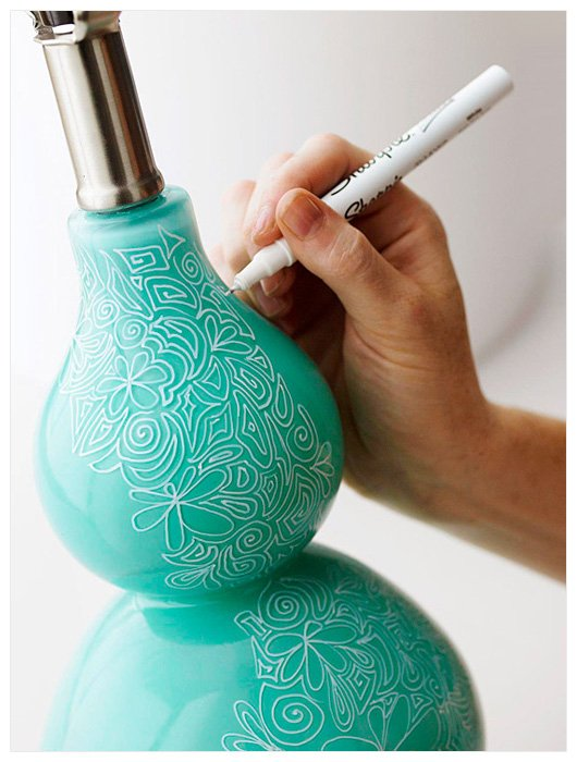 dorm decor sharpie lamp Dorm Decor {aka DIY Art I Want to Make for Our Home}