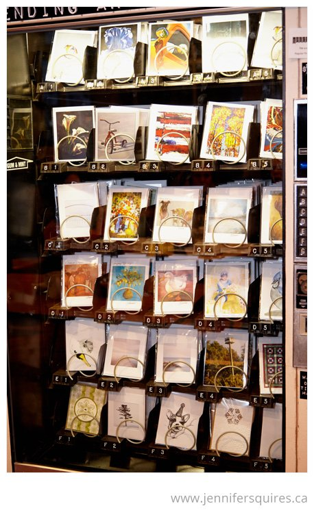 Greeting Card Vending Machine - The Vending Arts Project