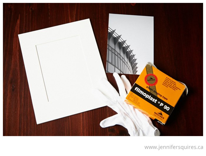How to Mat a Picture - Supplies