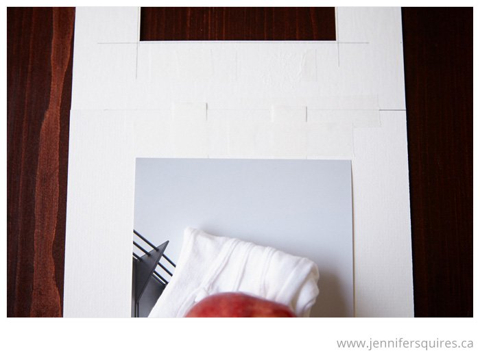 How to Mat a Picture - Taping