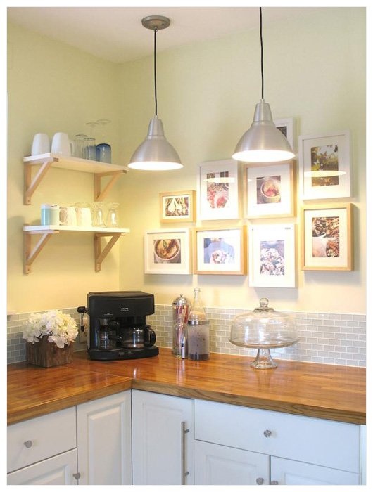 kitchen art collection above counter Hanging Pictures in a Kitchen