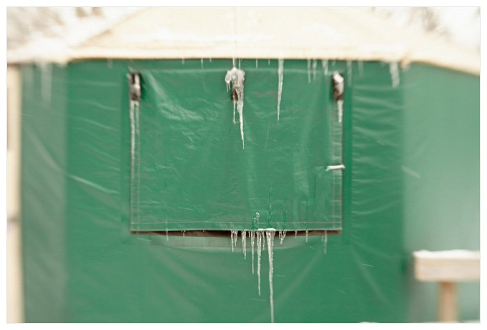 Winter Yurting - Icicles