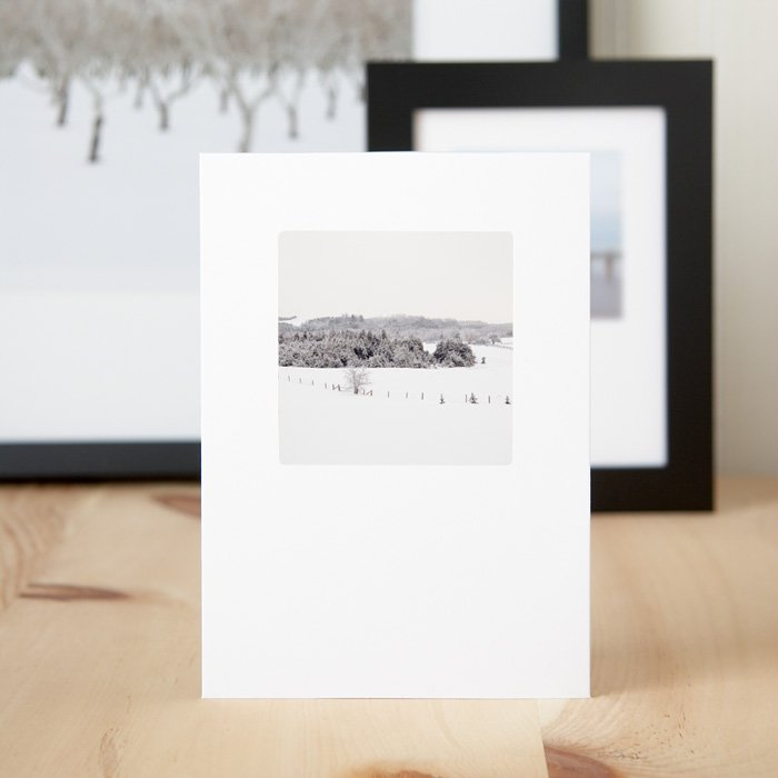 Christmas Greeting Cards Frosty Fields Home   Flatsome