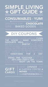 Simple Living Gift Guide Infographic