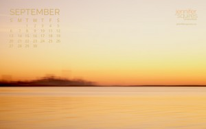 September 2015 Calendar - Impressionist Wallpaper