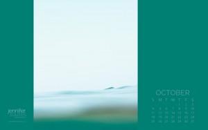 October 2015 Calendar - Tranquil Wallpaper
