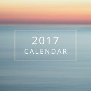 Soothing 2017 Calendar
