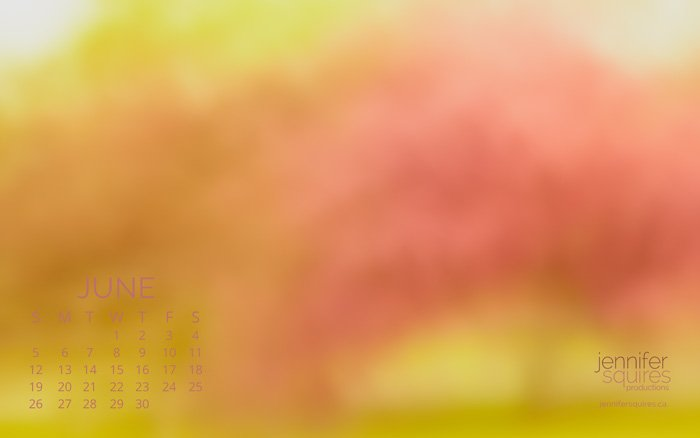 June 2016 Calendar - Impressionist Spring Wallpaper