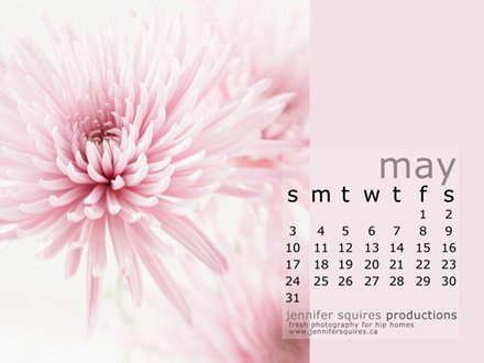 Download Your May 2009 Desktop Calendar Jennifer Squires Productions