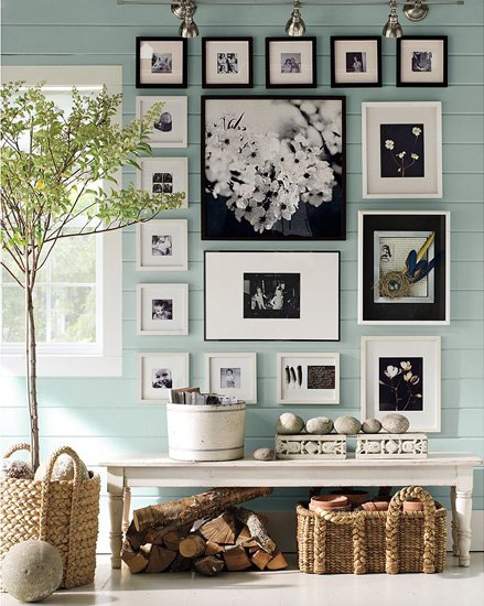 Pottery Barn Photo Arrangement