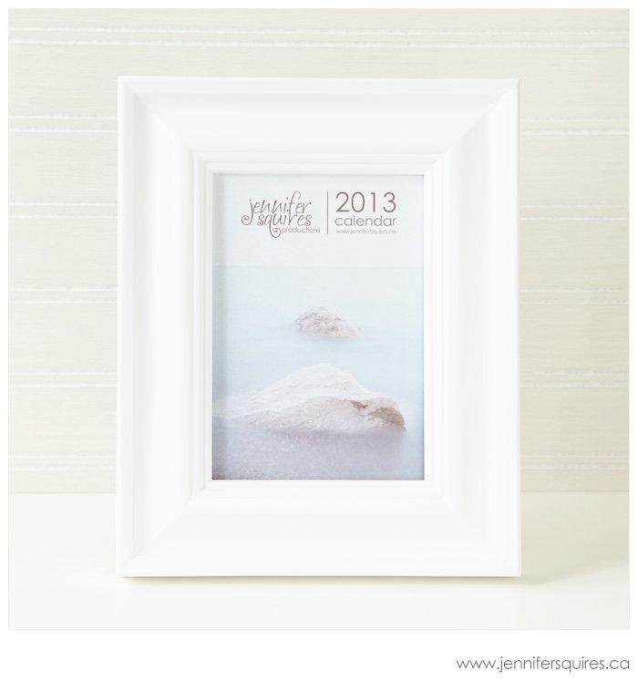 2013 Calendar in a 5x7 inch frame