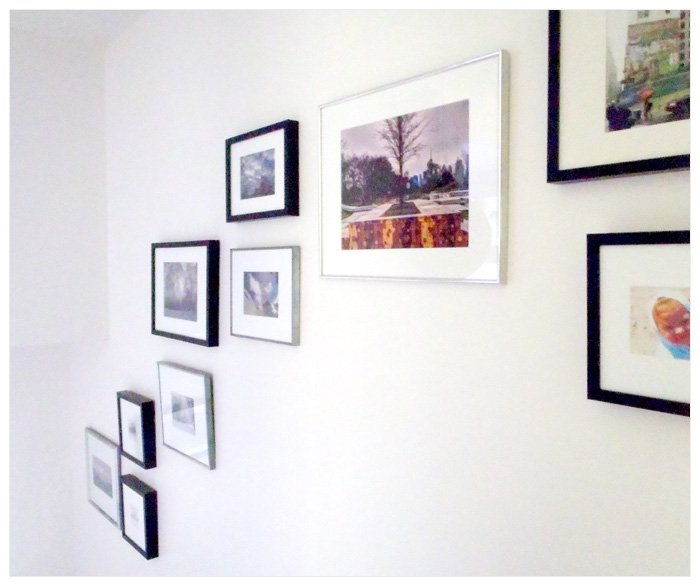 Hanging Pictures in a Stairway