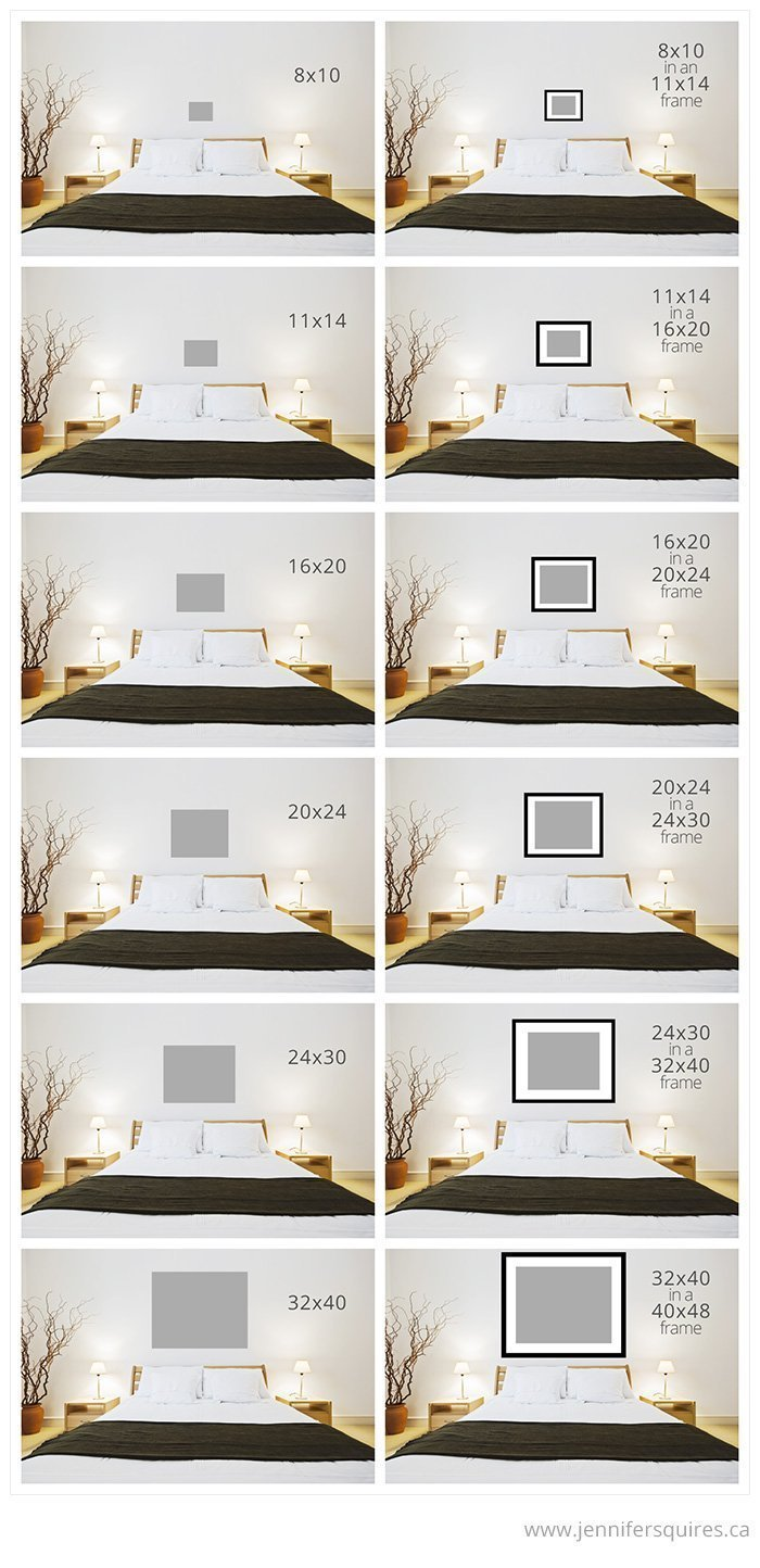 art size for above the bed jennifer squires productions. Black Bedroom Furniture Sets. Home Design Ideas
