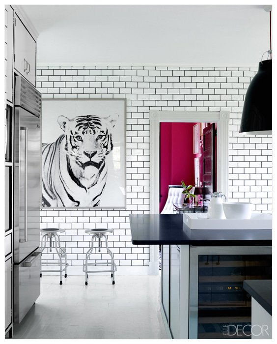 Large Kitchen Art as a Focal Point
