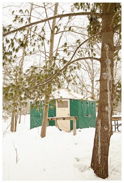 Winter Yurting - Our Yurt