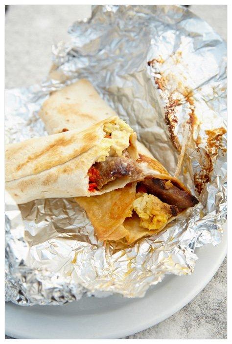 Winter Yurting - Breakfast Burritos