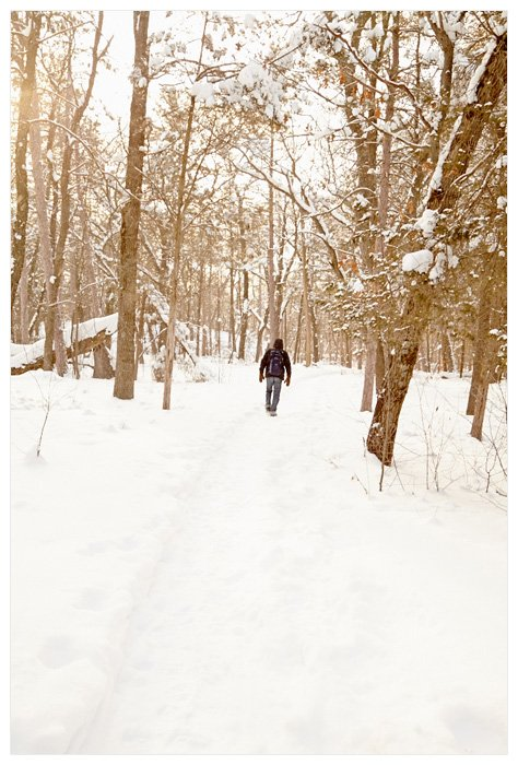 Winter Yurting - Walking Trail