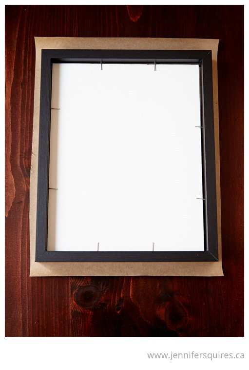 How to Frame a Picture - Paper backing