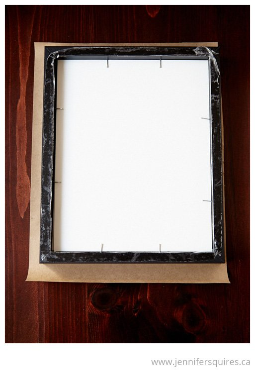How to Frame a Picture - Attaching a paper backing