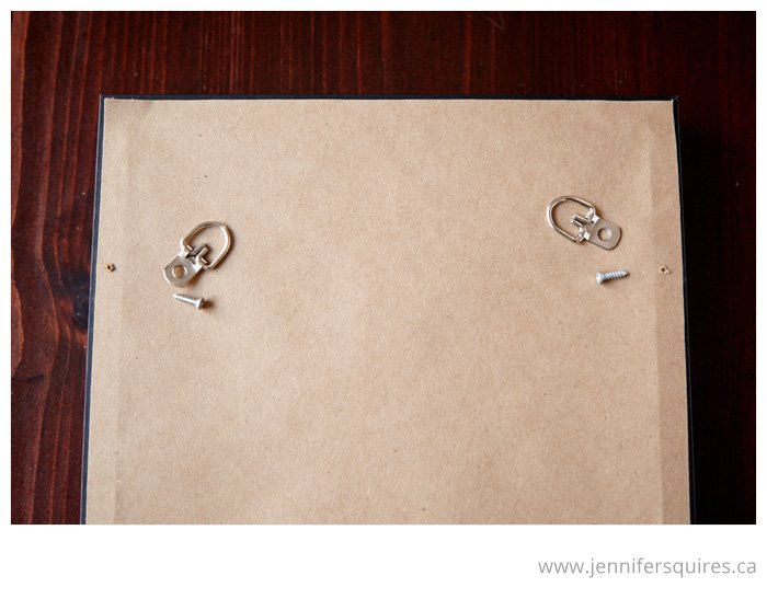 How to Frame a Picture - Attaching D-rings