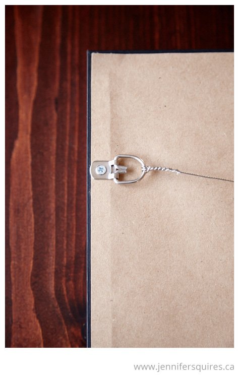 How to Frame a Picture - Attaching picture wire