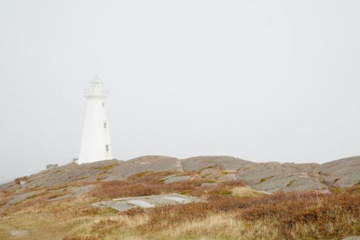 Lighthouse Photography - Cape Spear Lighthouse in Fog