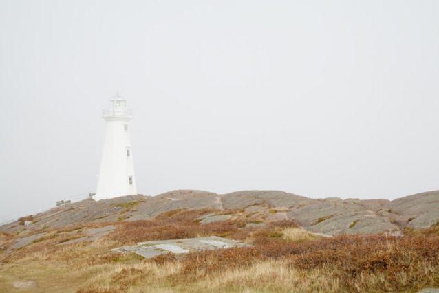 Lighthouse Photography - Cape Spear Lighthouse in Fog
